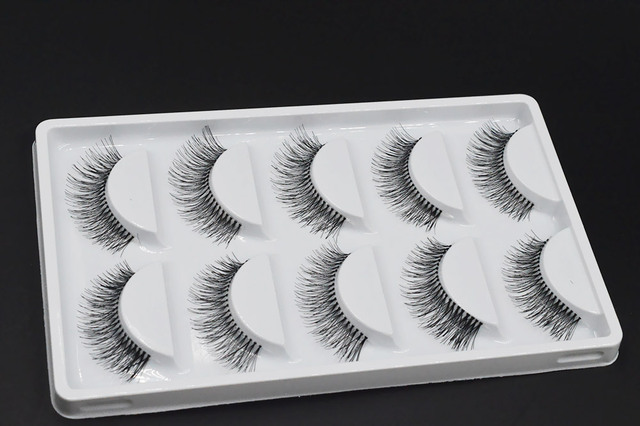 5 Pairs Natural Black Long Sparse Cross False Eyelashes Fake Eye Lashes Extensions Makeup Tools 4