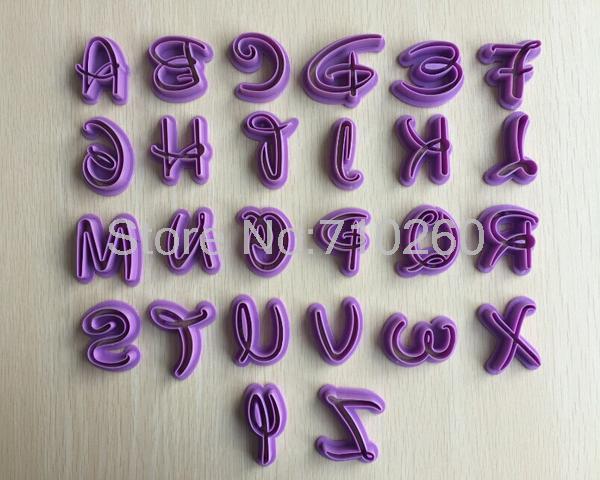 26 Inglese Lettera Forma Della Torta del biscotto taglierina della torta del fon