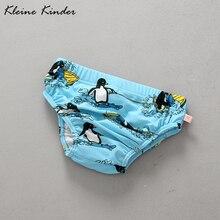 Одежда для купания для малышей плавки-подгузники с принтом пингвина, детские плавки одежда для купания для новорожденных детские купальные костюмы купальный костюм
