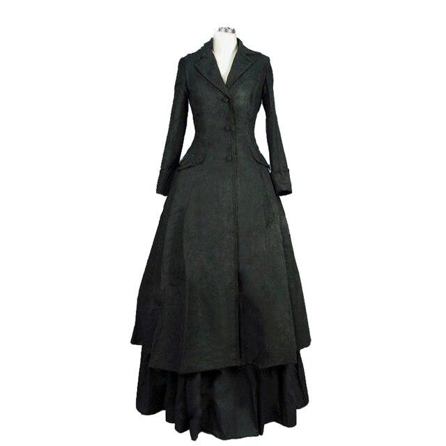 Downton Edwardian Kleid Gothic Schwarz Abbey Viktorianischen 3L5AR4cjq