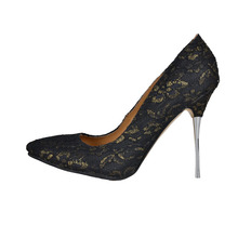 Black Lace Pointed Toe Women Pump High Heel Shoes For Ladies Platform Ladies Spring Shoes Cover Heel Desiger Women Shoes