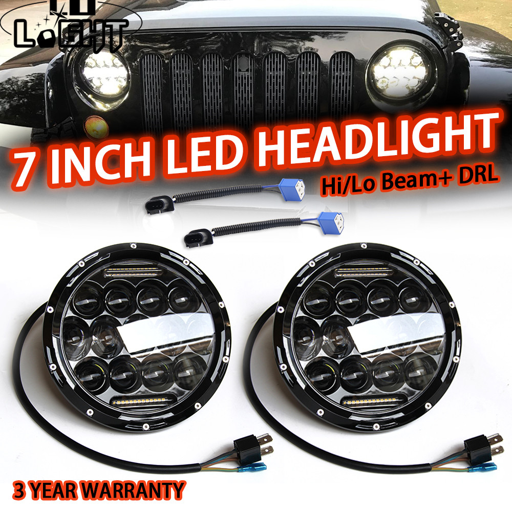 CO LIGHT 75W 7 Inch Running Lights 35W H4 Fog Lights 7'' Led Headlight Car Accessory Leds For Auto Uaz Niva 4X4 Toyota Off Road цена