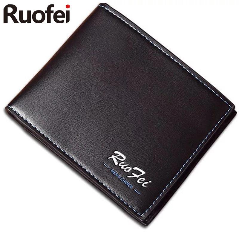 2017 men Leather Brand Luxury Wallet Vintage Minimalist Short Slim Male Purses Money Clip Credit Card Dollar Price
