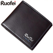 RUOFEI2017 men Leather Brand Luxury Wallet Vintage Minimalist Short Slim Male Purses Money Clip Credit Card Dollar Price