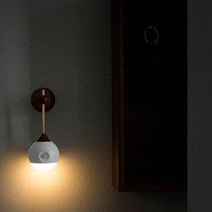 Image 3 - Original youpin sothing ensolarado inteligente sensor de luz da noite indução infravermelha carregamento usb lâmpada magnética removível casa inteligente h30