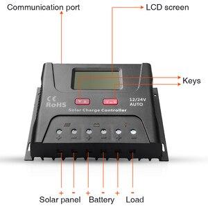 Image 4 - EASUN الطاقة الشمسية جهاز التحكم في الشحن 30A 40A PWM جهاز تحكم يعمل بالطاقة الشمسية USB 5 فولت الجهد المنظم شاشة الكريستال السائل 12 فولت 24 فولت منظم الطاقة الشمسية