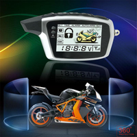 High Quality Original SPY Two Way Anti Theft Motorcycle Alarm With 2 Rechargeable LCD Transmitters Remote