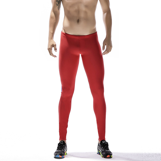 18f99a2d6a3 US $12.7 19% OFF|New Running Tights Men Sports Leggings Sportswear Long  Trousers Yoga Pants Winter Fitness Compression Patchwork Sexy Gym Slim-in  ...