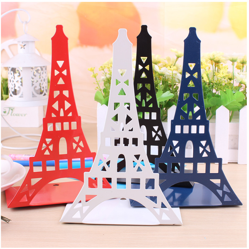 New 2 pcs/set Fashion Eiffel Tower Design Bookshelf Large Metal Bookend Desk Holder Stand for Books Organizer Gift StationeryNew 2 pcs/set Fashion Eiffel Tower Design Bookshelf Large Metal Bookend Desk Holder Stand for Books Organizer Gift Stationery