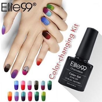 Elite99 Nagel Gel Polnisch Temperatur Ändern Nagel Farbe Heiße Verkäufe UV Gel Polnischen Chameleon Gradient Nagel Gel Lack 10 ml lack