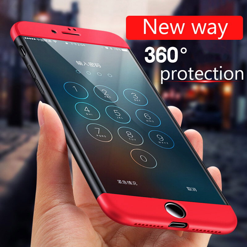 360 Degree Protection case For iPhone X 8 Cover For Apple