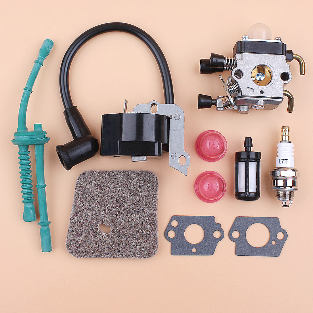 <font><b>Carburetor</b></font> Ignition Coil Air Filter Fuel Hose Kit <font><b>For</b></font> <font><b>STIHL</b></font> <font><b>FS38</b></font> FS55 <font><b>FS45</b></font> FS46 FC55 KM55 Trimmer Brushcutter Replacement Parts image
