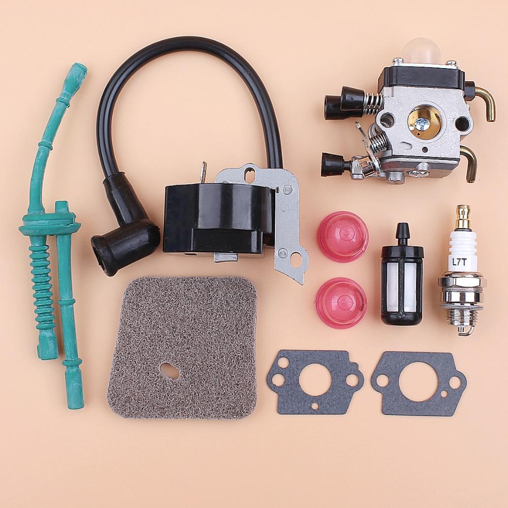 Carburetor Ignition Coil Air Filter Fuel Hose Kit For STIHL FS38 FS55 FS45 FS46 FC55 KM55 Trimmer Brushcutter Replacement Parts