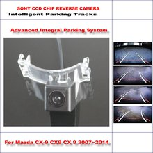 860 * 576 Pixels Back Up Camera For Mazda5 Premacy MK3 / Mazda CX-9 Rearview Parking / 580 TV Lines Dynamic Guidance Tragectory 3 in1 special camera wireless receiver mirror monitor diy back up parking system for mazda cx 9 cx9 cx 9 2007 2014