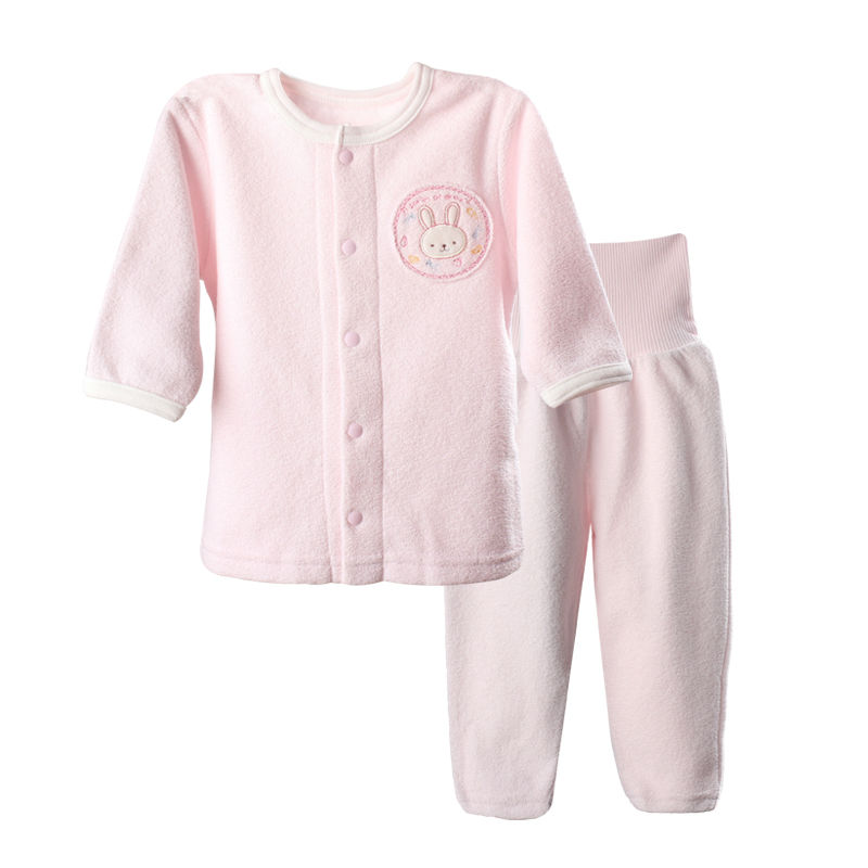 2016New 2pcs Naby Girl\'s Sets Clothes Autumn Winter Children\'s Thermal Underwear clothing infant long full sleeve flannel suits