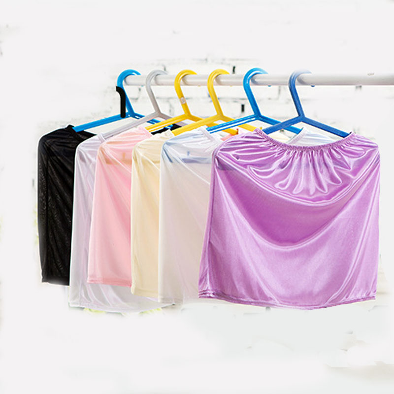 Imitated Silk Petticoat Underskirt Women Casual Mini Skirts Summer Underdress Vestidos Girls Lady Loose Basic Safety Half Slips(China)