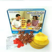 1PC Mouse Stacks Cheese Tower Balance Game, too many mice! A Fun Balancing Tumble Game Great Family Fun Toys