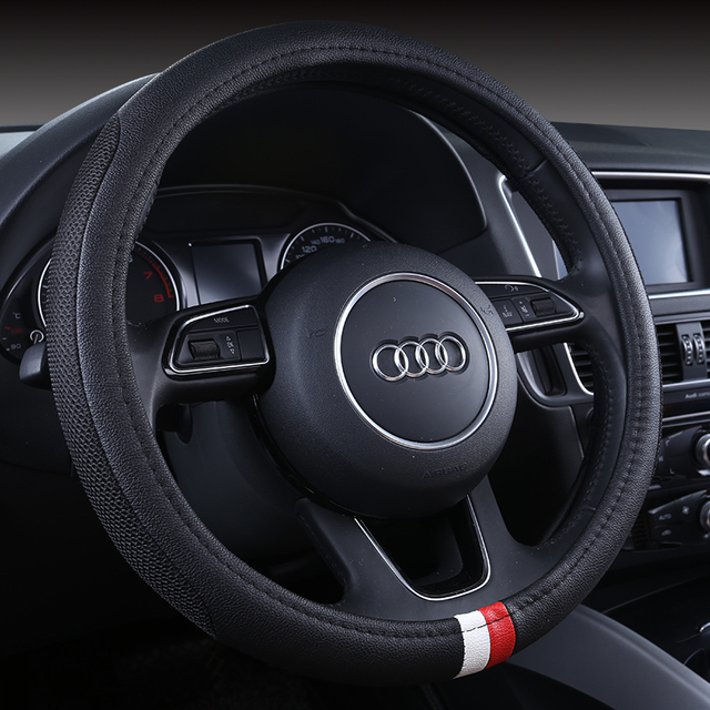 Sport Car Steering Wheel Cover Auto Steering Interior Accessories