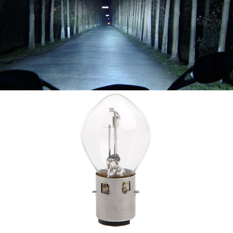 New 1 Pc ATV Moped Scooter Head Light Bulb Lamp Motorcycle DC 12V 35W 10A B35 BA20D Glass Motorbike Accessories