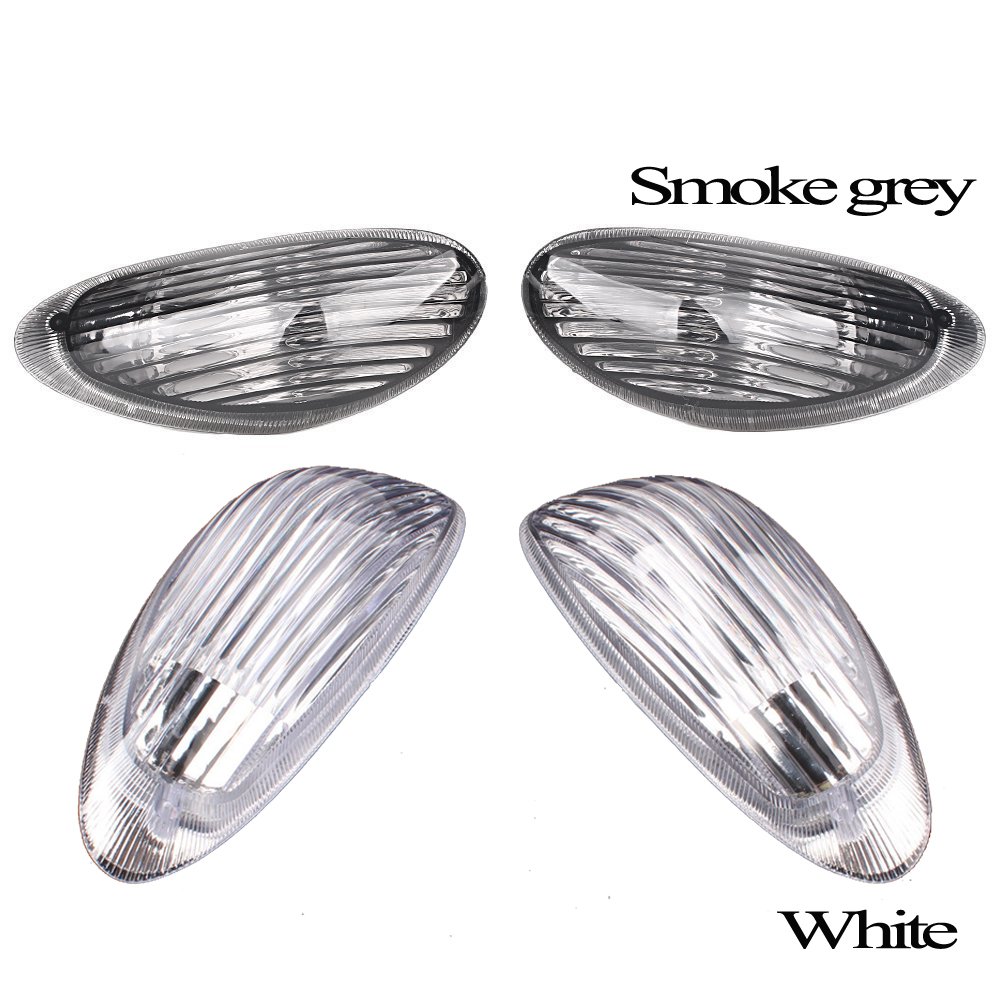Motorcycle Clear Front Turn Signals Light Indicator