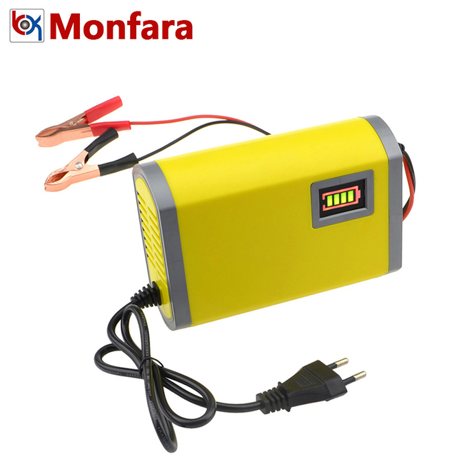 Universal Lead Acid AGM GEL Car Motorcycle Battery Charger 12V 6A Intelligent Pulse Repair LED Capacity Display 12 V Smart Fast