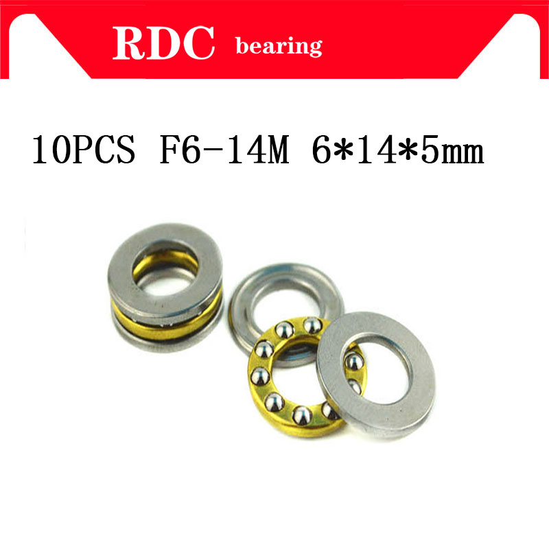 Free Shipping 10pcs/Lot F6-14M Axial Ball Thrust Bearing High quality 6mm x 14mm x 5mm 6x14x5 mm F6 14M 5 10pcs lot f5 10m f5 11m f5 12m f6 12m f6 14m f7 13m f7 15m f7 17m axial ball thrust bearing brand new
