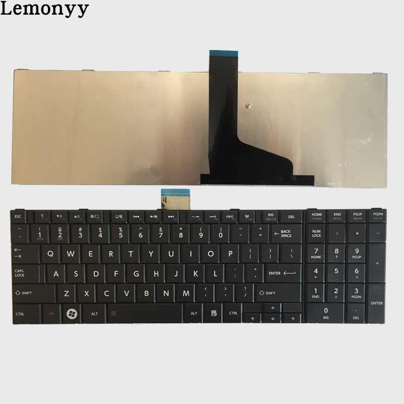 NEW US keyboard for TOSHIBA SATELLITE C850 C850D C855 C855D L850 L850D L855 L855D L870 L870D US Black laptop keyboard цена