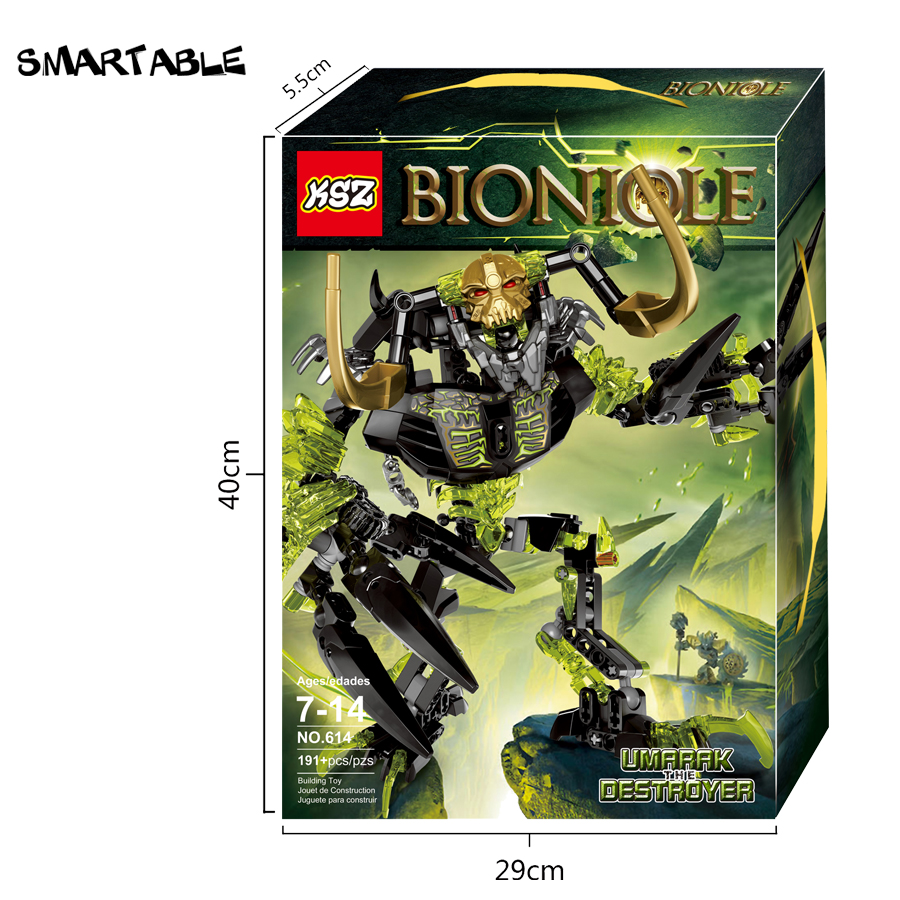 Image 3 - Smartable BIONICLE 191pcs Umarak Destroyer figures 614 Building Block toys Compatible All Brands 71316 BIONICLE Christmas Gift-in Blocks from Toys & Hobbies
