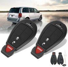 3 Botões de Carro Remoto Chave Fob Caso Shell w/Lâmina Para Dodge Grand Caravan Journey 2008 2009 2010 2011 2012 2013 2014
