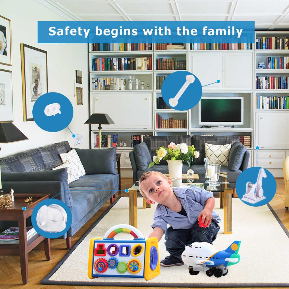 48 шт., детская запирающаяся дверь, запирающаяся дверь, силиконовый защитный стол, угловая Безопасность детей малышей, защита