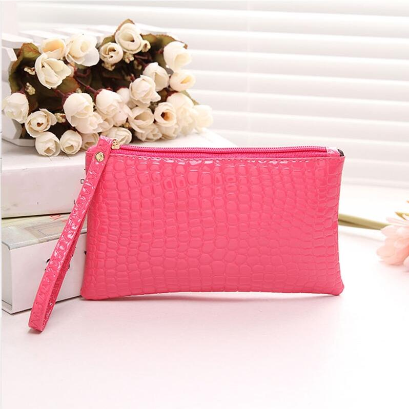 ETya Fashion Women Coin Wallet Pu Leather Wristlet Coin Holder Bag Card Coin Purse Small Clutch Handbag