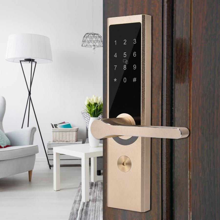 Security Electronic Door Lock A4 WiFi BT Cipher Remote Smart Door Lock Digital Code Keypad Deadbolt
