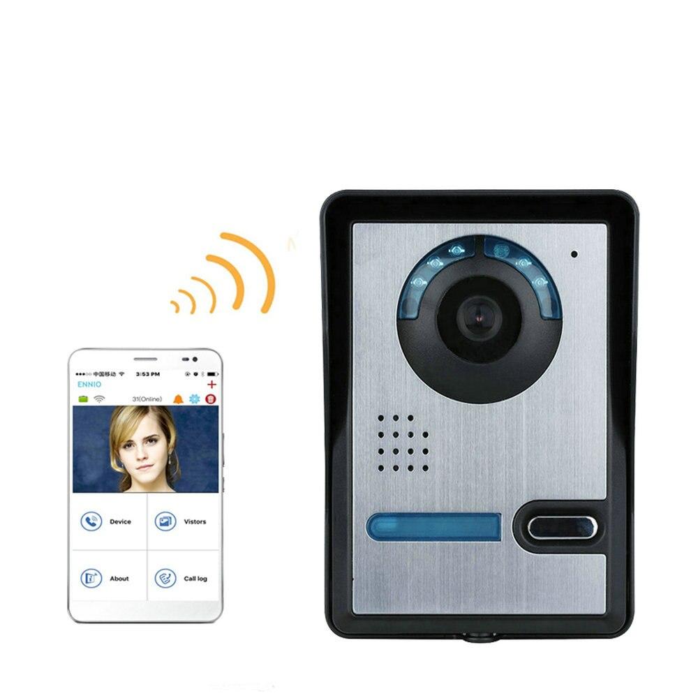 Wireless WIFI Video Door Phone Doorbel Intercom System  Night Vision Waterproof Camera With Rain Cover  HD 720P