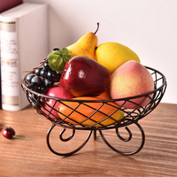 Northern Europe Iron fruit basket Snacks Hollow Candy bowl decorative serving tray Desktop organizer kitchen home home decor
