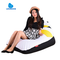 LEVMOON Beanbag Sofa Chair Pikachu Seat Zac Shell Comfort Bean Bag Bed Cover Without Filler Cotton
