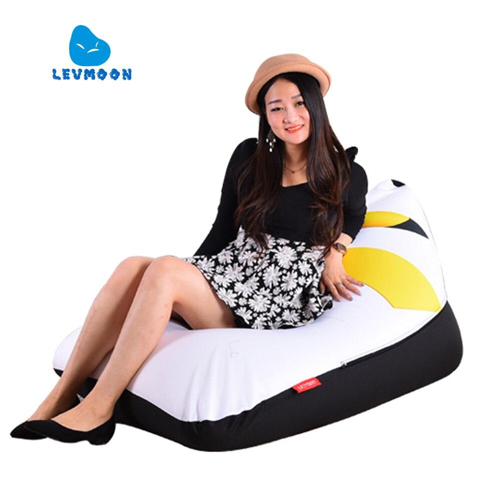 LEVMOON Pouf Canapé Chaise Pikachu Siège zac Shell Confort Sac De Haricots Lit Couverture Sans Remplissage Coton Intérieur Pouf Salon Chaise