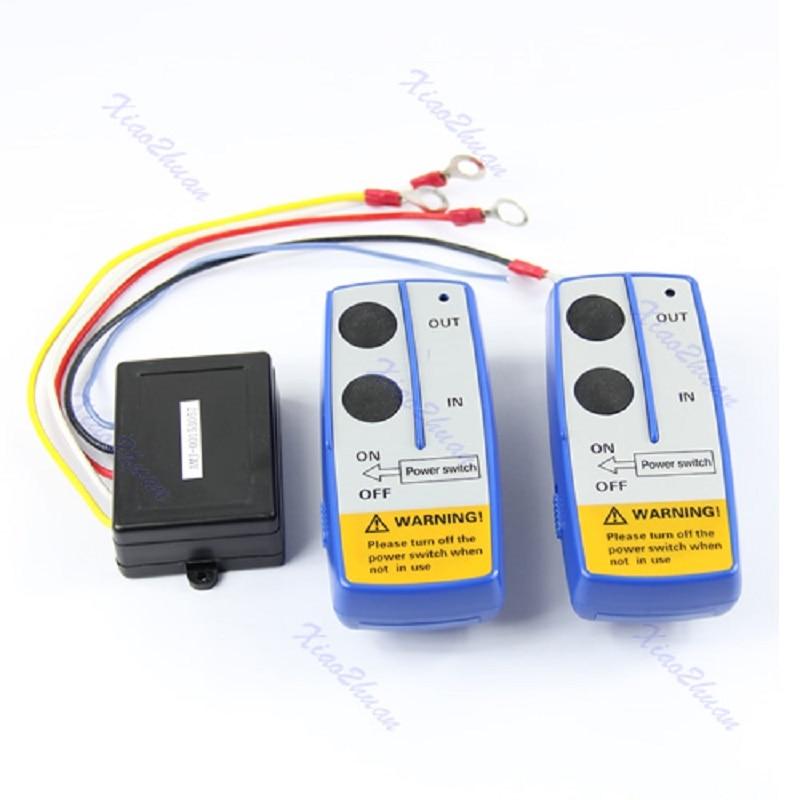 OOTDTY 50ft Wireless Winch Remote Control Switch Handset Kit For Jeep ATV SUV UTV 12V