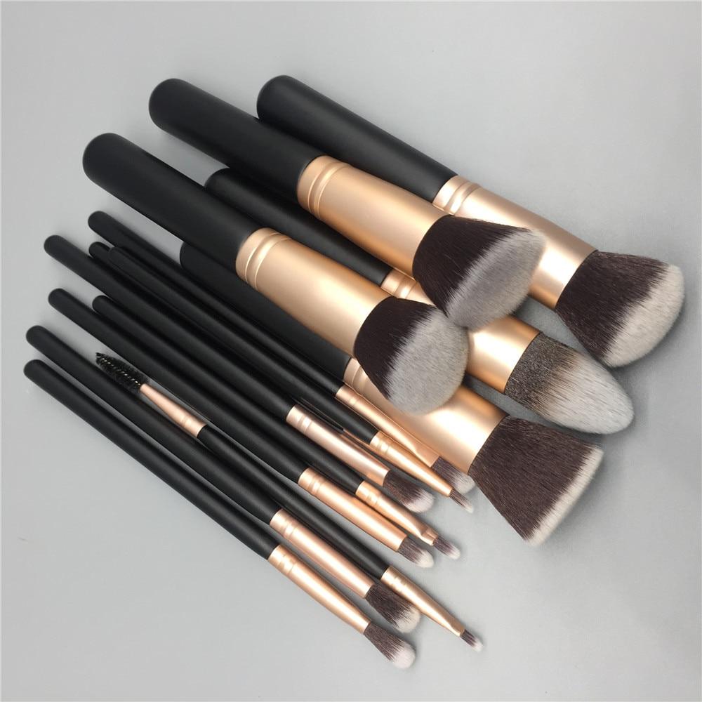 14 stücke make-up pinsel set für foundation pulver rouge lip augenbraue lidschatten eyeliner pinsel kosmetik werkzeug