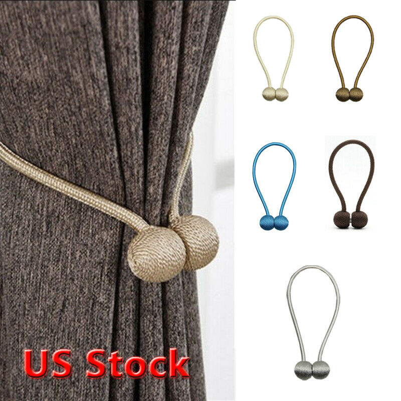 Hot Curtain Buckles 2019 Newest Magnetic Pearl Ball Curtain Tiebacks Backs Holdbacks Buckle Clips Curtain Decorative Accessories