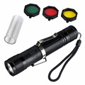 Hot Selling Adjustable Angle CREE XM-L T6 LED 1800Lm Flashlight Torch 3Modes+Filter Set top quality
