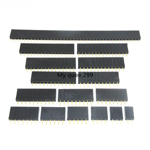 Pitch 2.54mm 2/3/4/5/6/7/8/9/10/11/12/13/14/15/16/17/18/19/20/40 Pin Stright Female Single Row Pin Header Strip PCB Connector(China)