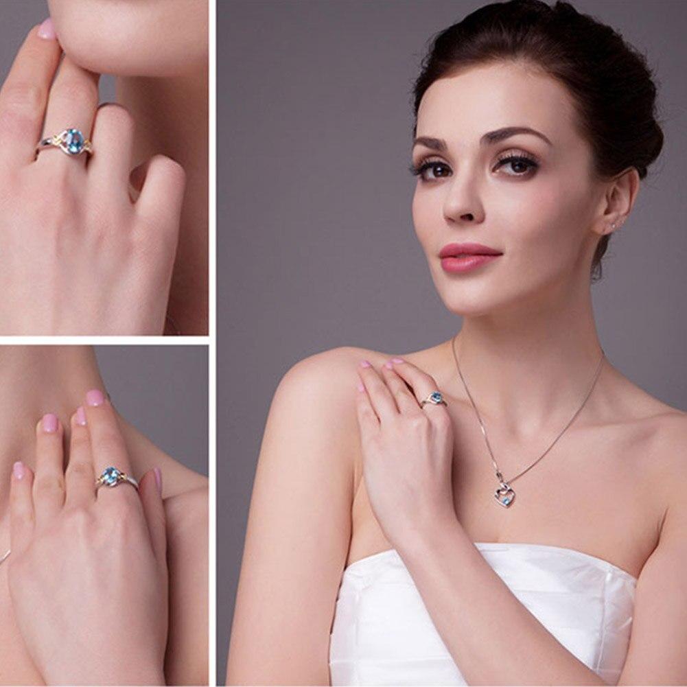 Elegant Light Sky Blue Woman Finger Rings New Arrival Bridal