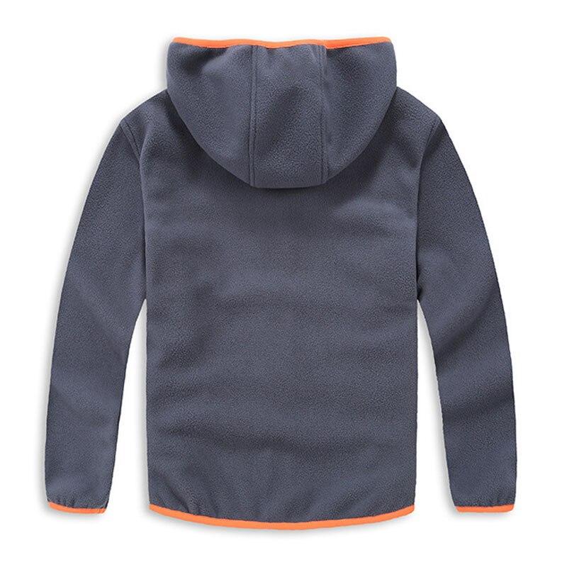 16a7e5a3e975d 2019 printemps et automne à la mode garçons Sport à capuche veste nouveauté  enfants polaire doux Shell vêtements vêtements d'extérieur pour enfant 3 14  T ...