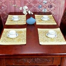Роскошное китайское шелковое покрывало с цветочным рисунком, столовые подставки под кружки, прямоугольная Рождественская Подставка-тарелка 39x29 см