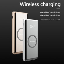 Wireless charging Power Bank External Battery 10000mAh Portable Mobile Backup Bank Charger for iPhone 8 Plus X For Samsung S9