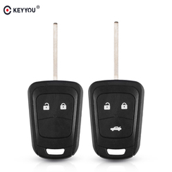 KEYYOU 2/3 Buttons Remote Key Shell for Chevrolet Camaro Sonic Cruze Malibu Volt Spark Equinox Key Fob Case Car Accessories