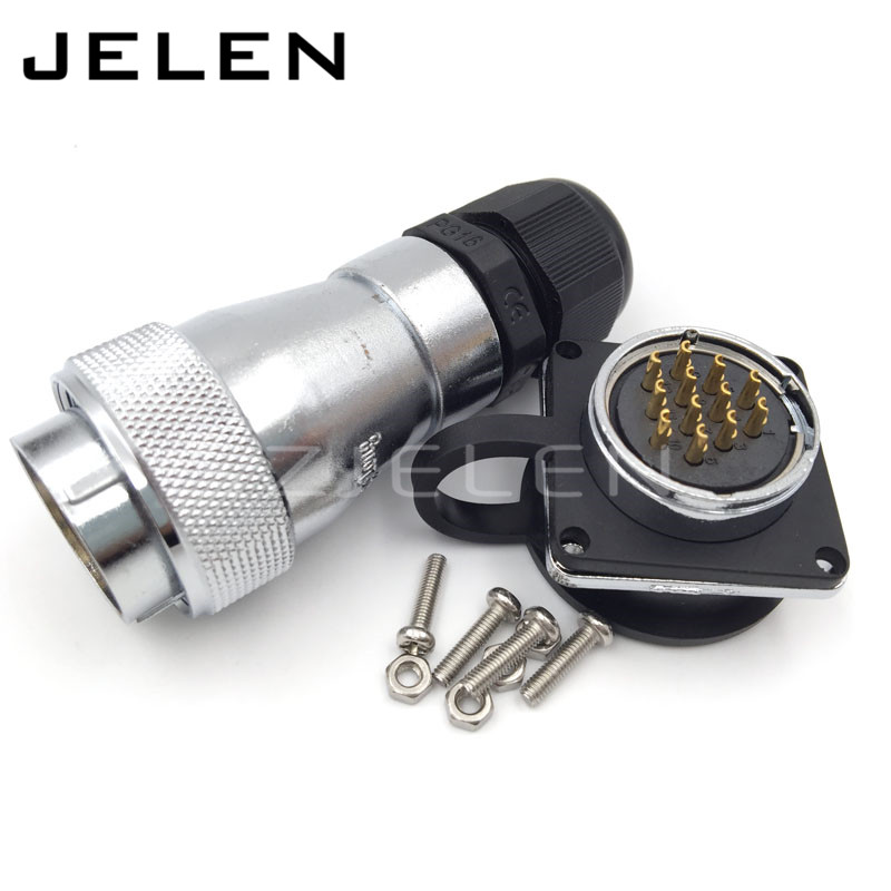 12pin waterproof connector WF28 IP67 male female connector,Power Cable Connector
