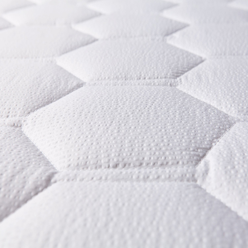 White Bed Protection Pad, Quilted Mattress Protector, Polyester Woven, Twin, Full, Queen, King 15