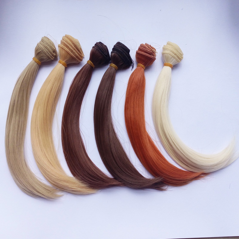 6PCS/LOT Hot Sale DIY Doll Hair Wigs 25CM Natural Colors Synthetic Hair For BJD Dolls short bob wigs for black women peruca masculina cheap wigs synthetic sentetik peruk lace wigs anime jinx cosplay wigs natural