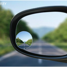 2Pcs Car Rear view Convex Mirror 360 Degree Rotating Wide Angle Round Mirror Wid